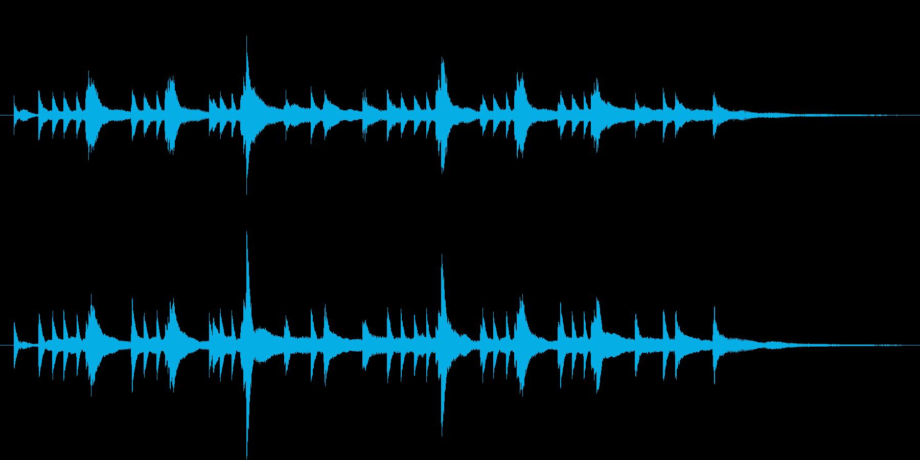 ピアノの綺麗なインストの再生済みの波形