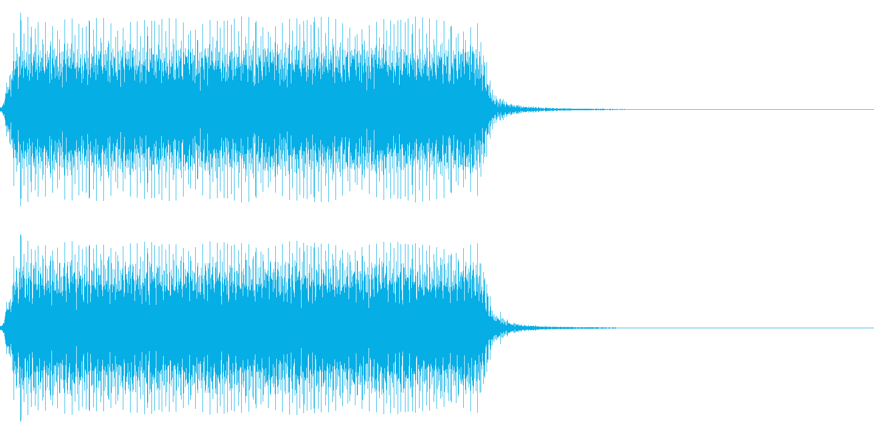 自動車のクラクション(長い)の再生済みの波形