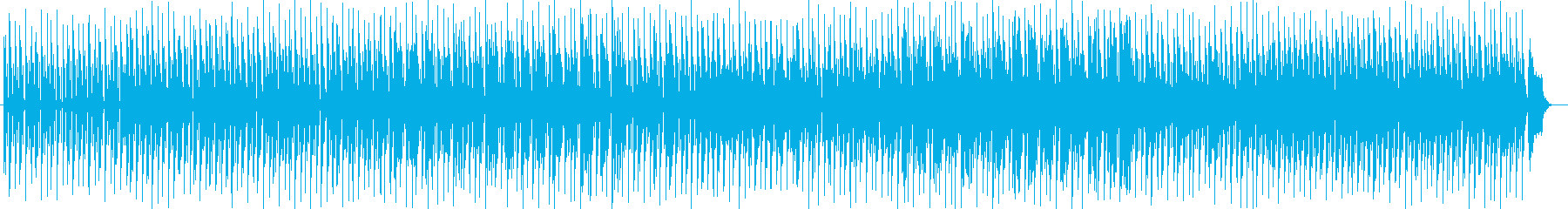穏やかで楽しいシンセサイザーサウンドの再生済みの波形