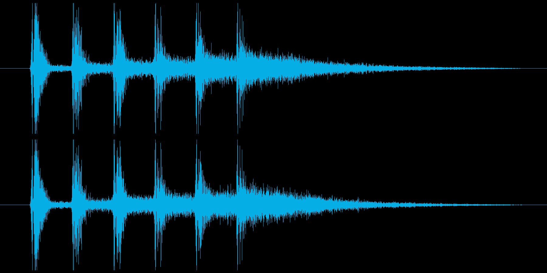 ダンジョン 洞窟 入場音 階段 残響付の再生済みの波形