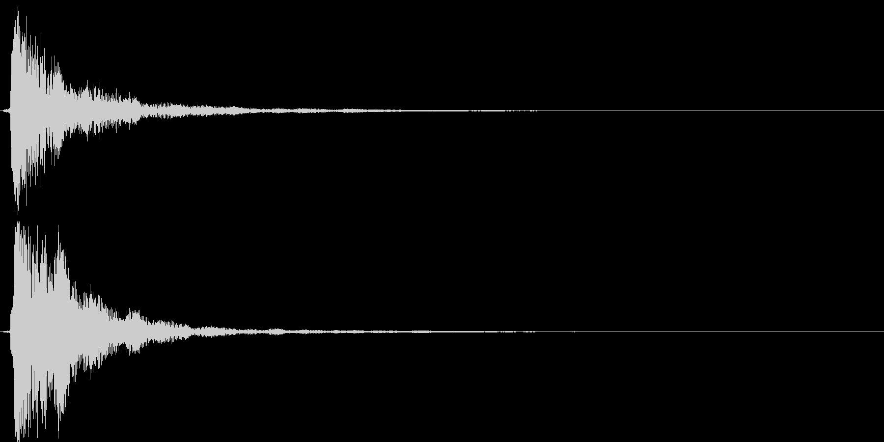 【ピロン】ゲームの決定などに最適な音の未再生の波形