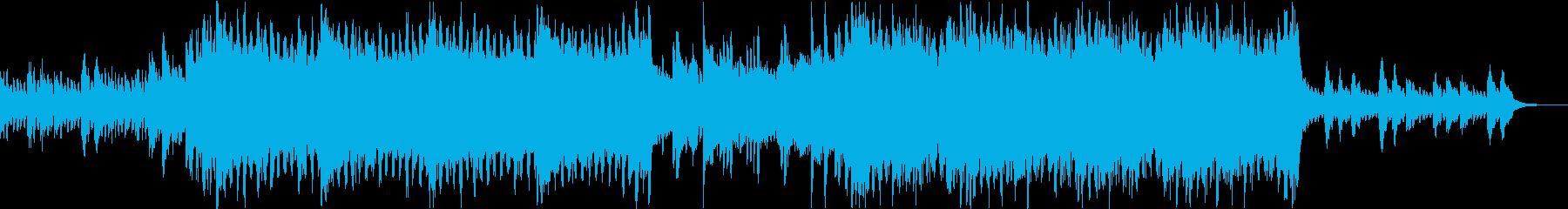 ハッピーで感動的なテンポのいい曲の再生済みの波形