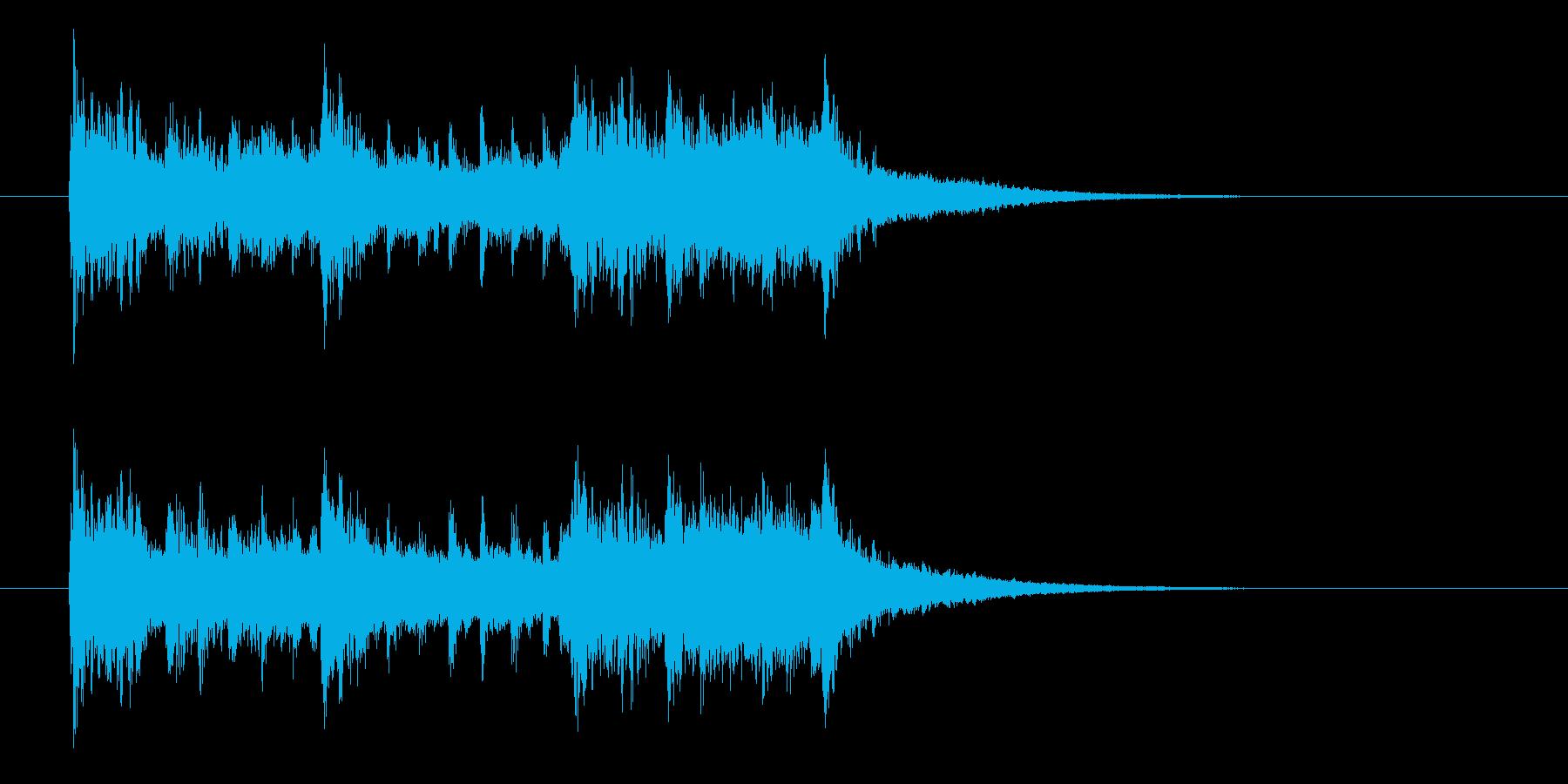 歪んだギターのジングル曲、サウンドロゴの再生済みの波形