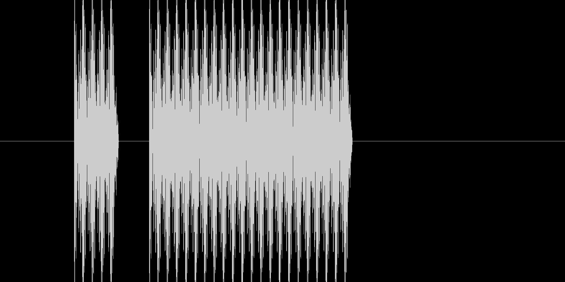 ブッブー(不正解の音)の未再生の波形