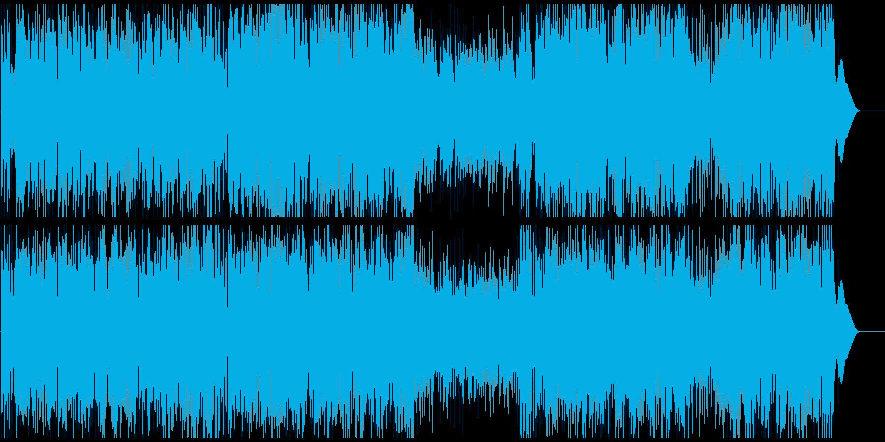 コミカル映像に あんたがたどこさのサルサの再生済みの波形