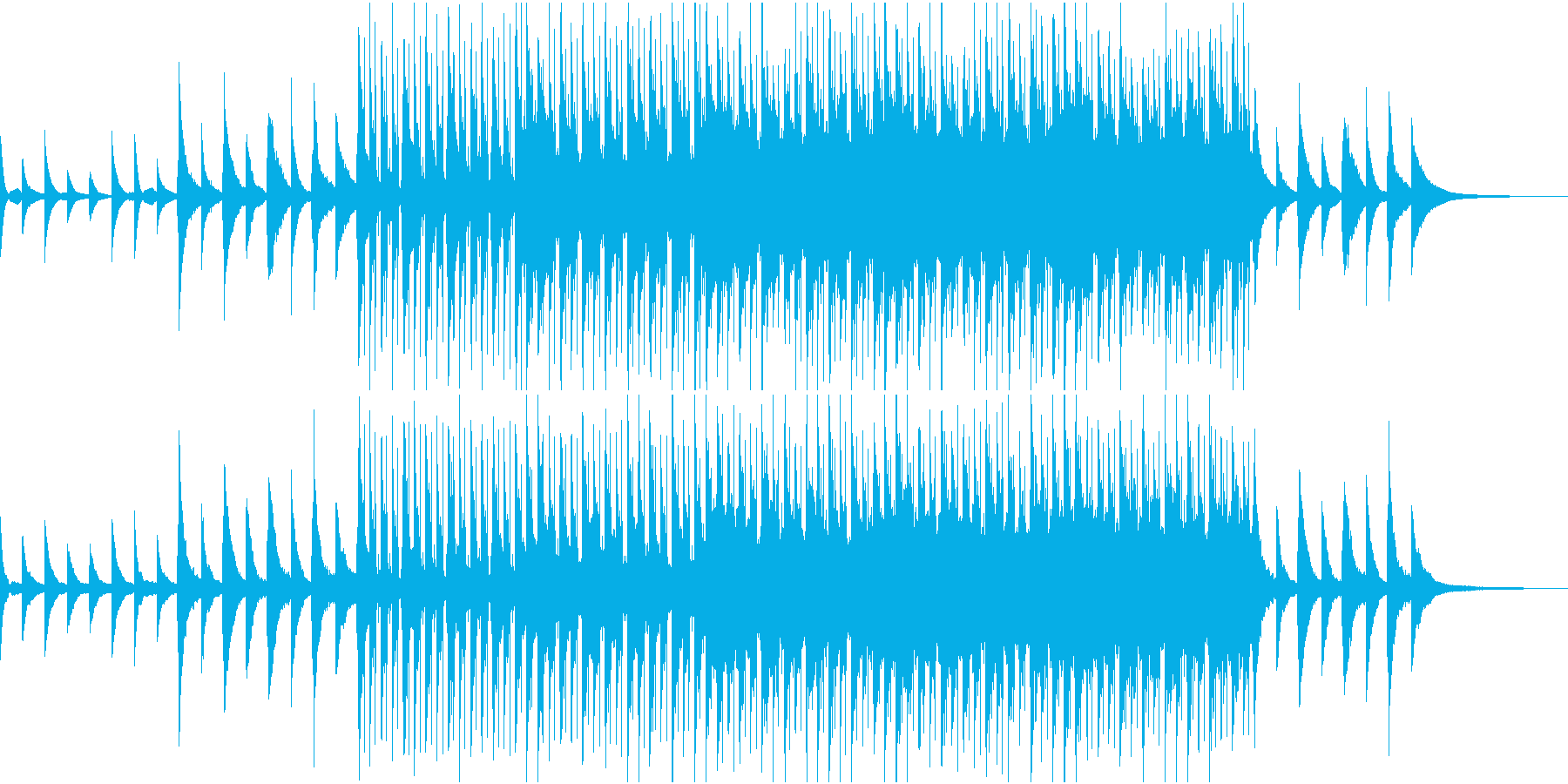 ピアノで奏でるチャイムがダンスビートにの再生済みの波形