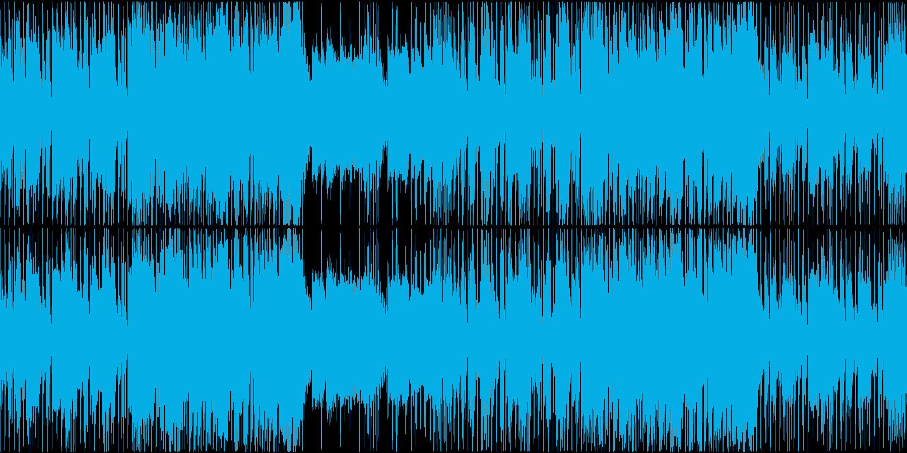 穏やかで軽快なジャズヒップホップインストの再生済みの波形