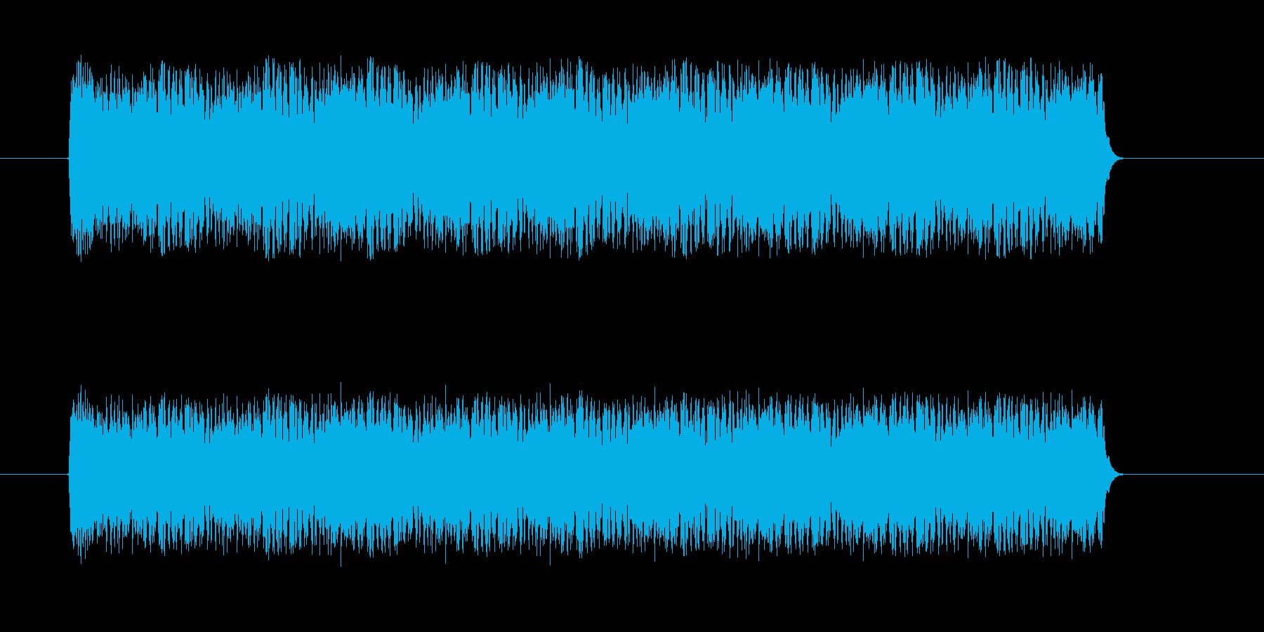 スネアドラムのドラムロールの再生済みの波形