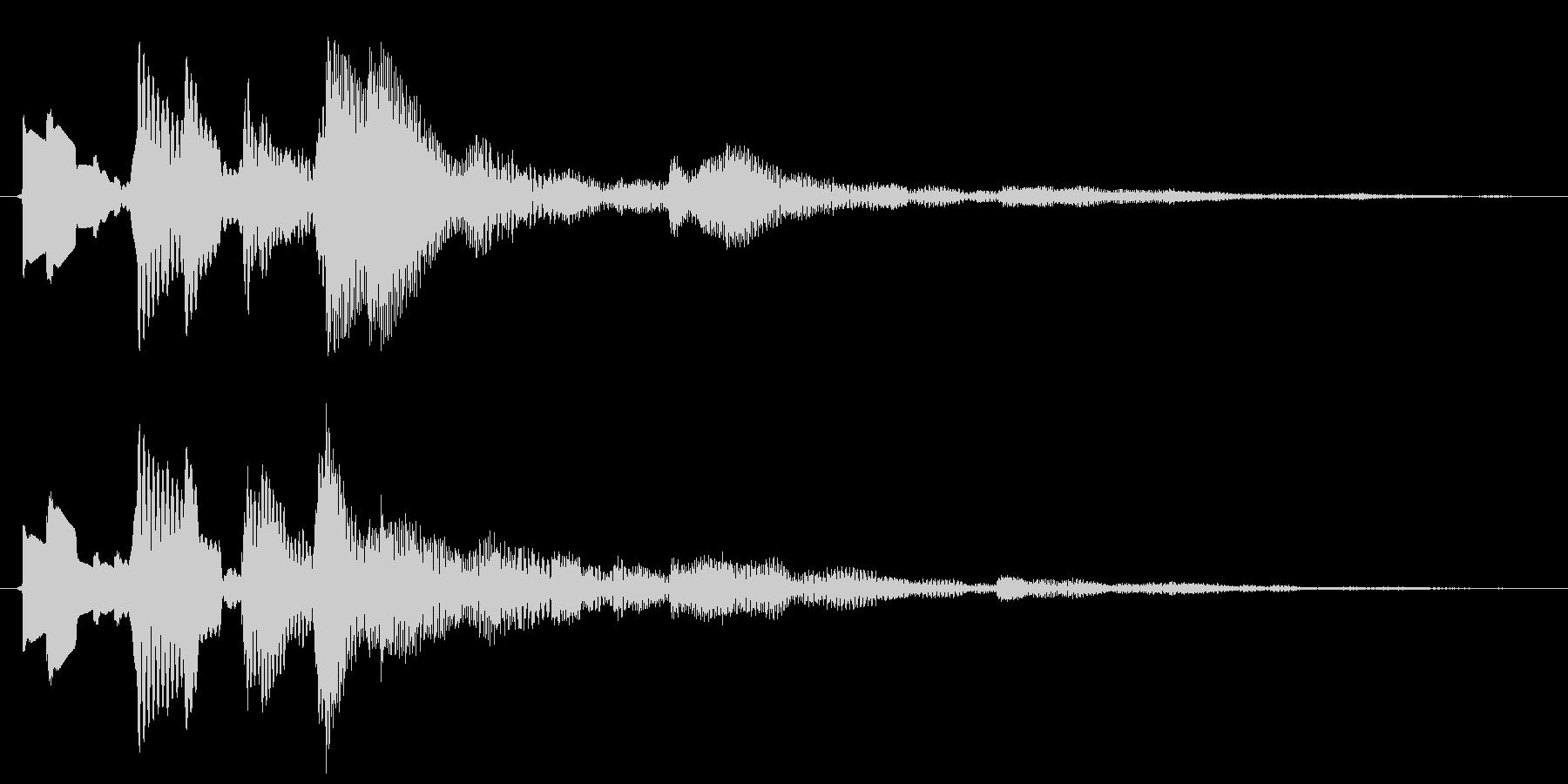 決定/ボタン押下音(木琴)の未再生の波形