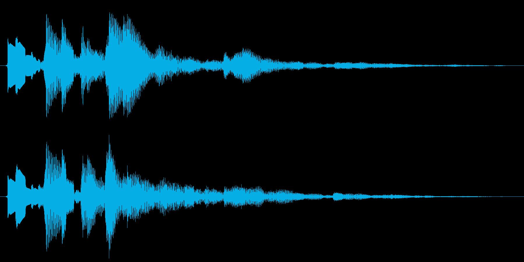 決定/ボタン押下音(木琴)の再生済みの波形
