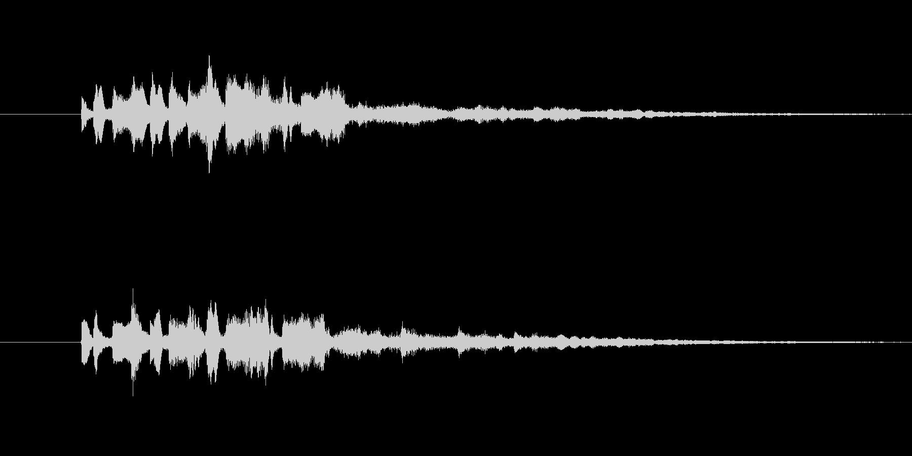 変化音 ひらめき 5秒の未再生の波形