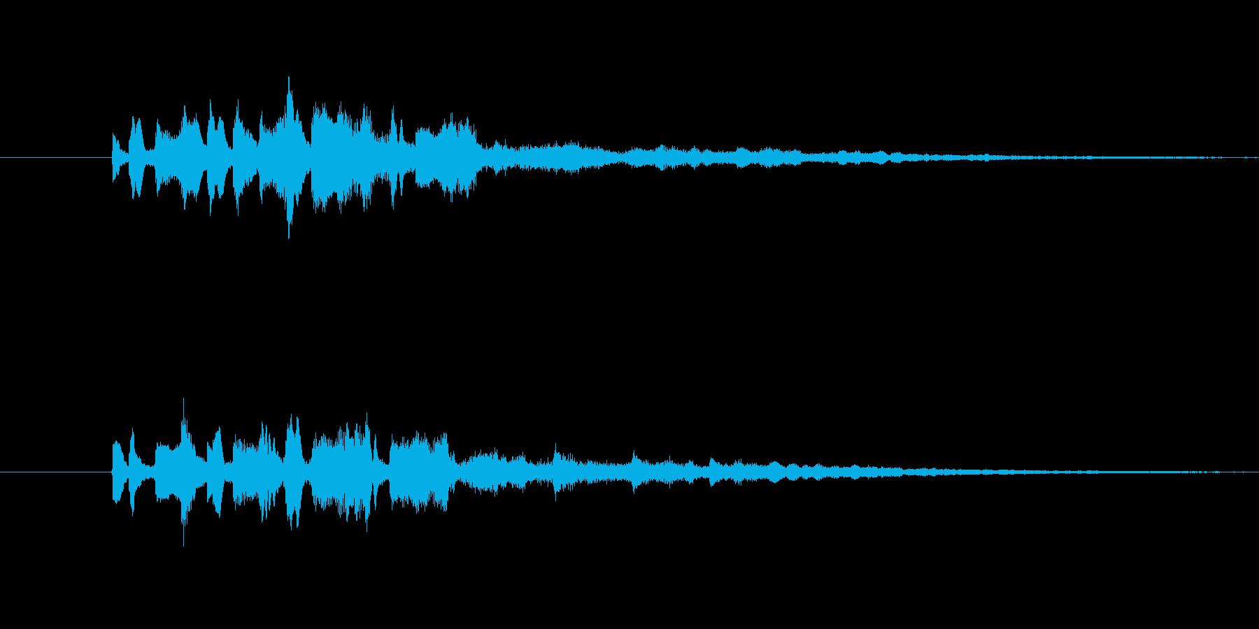 変化音 ひらめき 5秒の再生済みの波形
