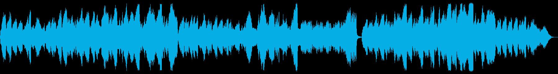 穏やかな弦楽四重奏曲の再生済みの波形