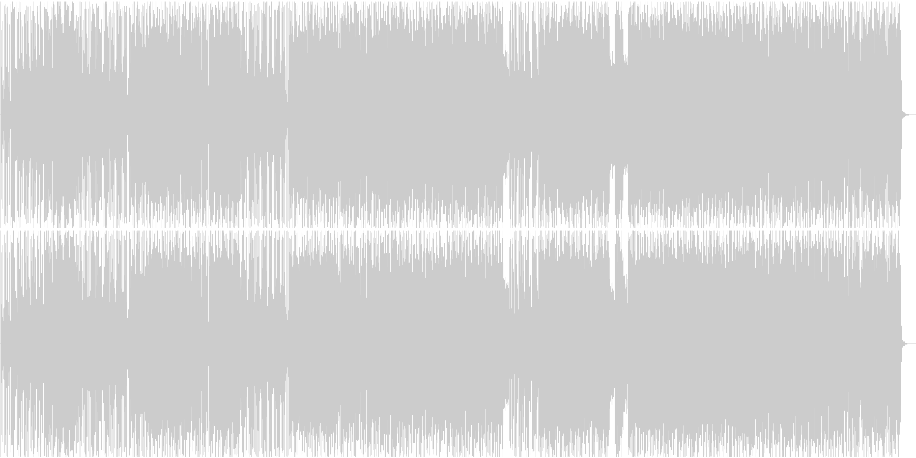 明るいハードロックンロールギターインストの未再生の波形