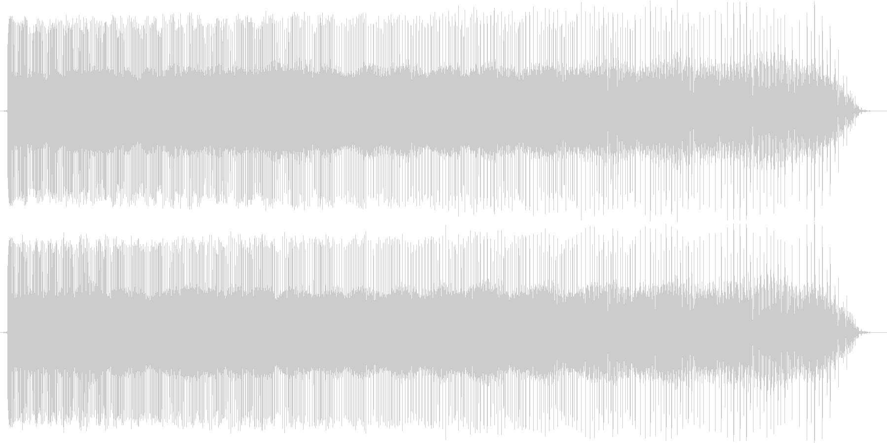 レトロなぴゅーん パワーダウン コミカルの未再生の波形