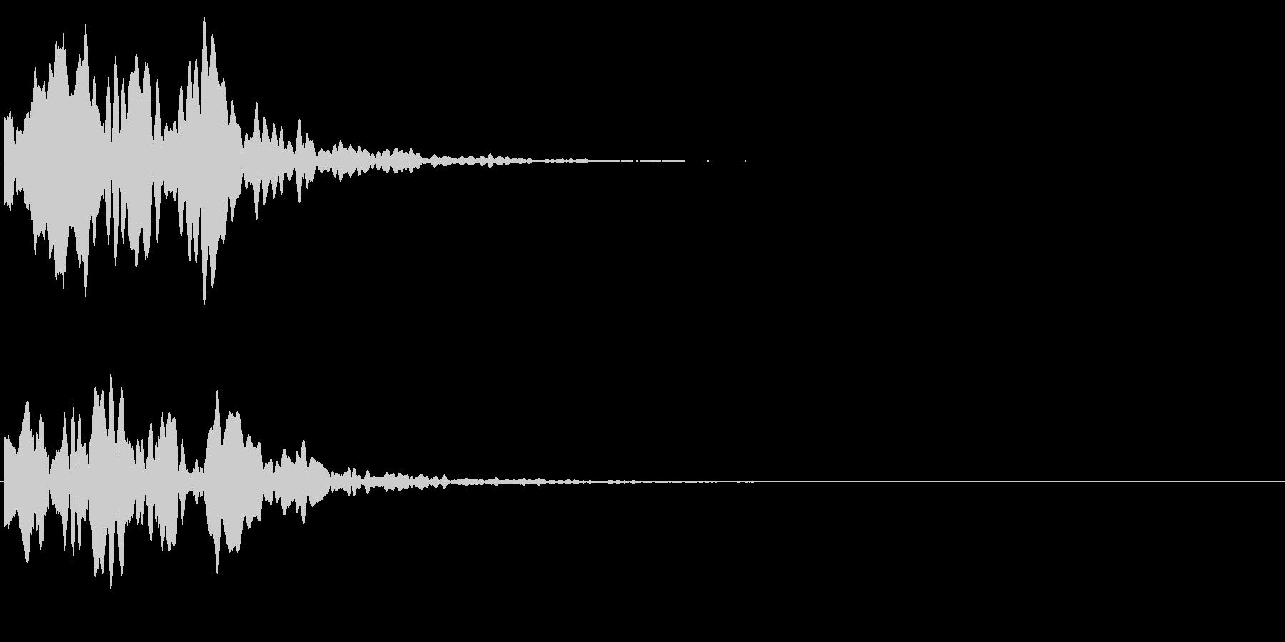 ゲームスタート、決定、ボタン音-129の未再生の波形