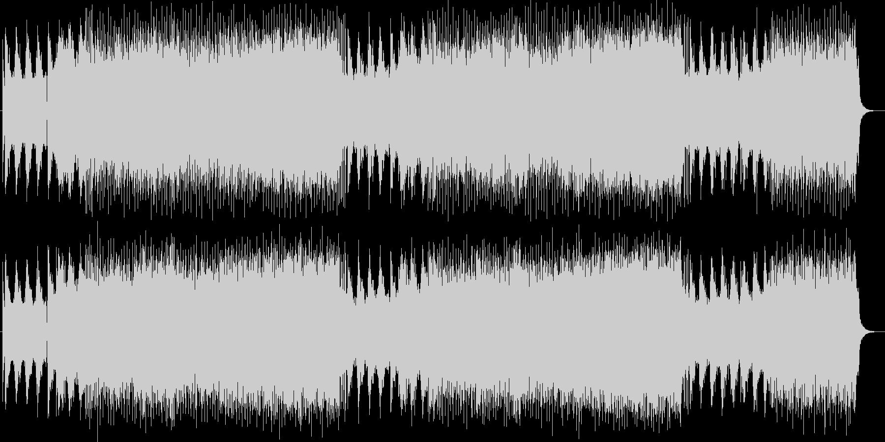 ワイルドでパンクなエレキサウンドの未再生の波形