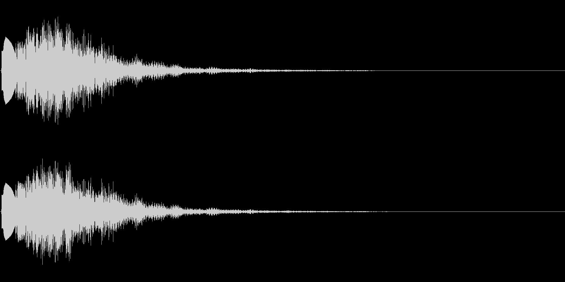 ボタンクリック音 効果音 の未再生の波形