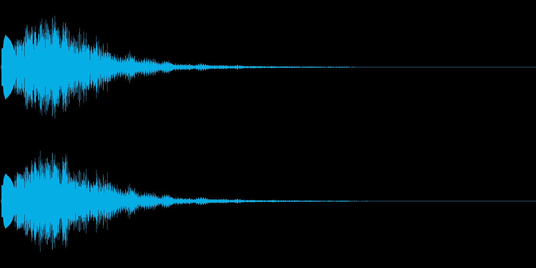 ボタンクリック音 効果音 の再生済みの波形