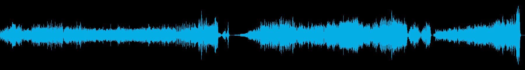 映画音楽風オーケストラ演奏曲の再生済みの波形