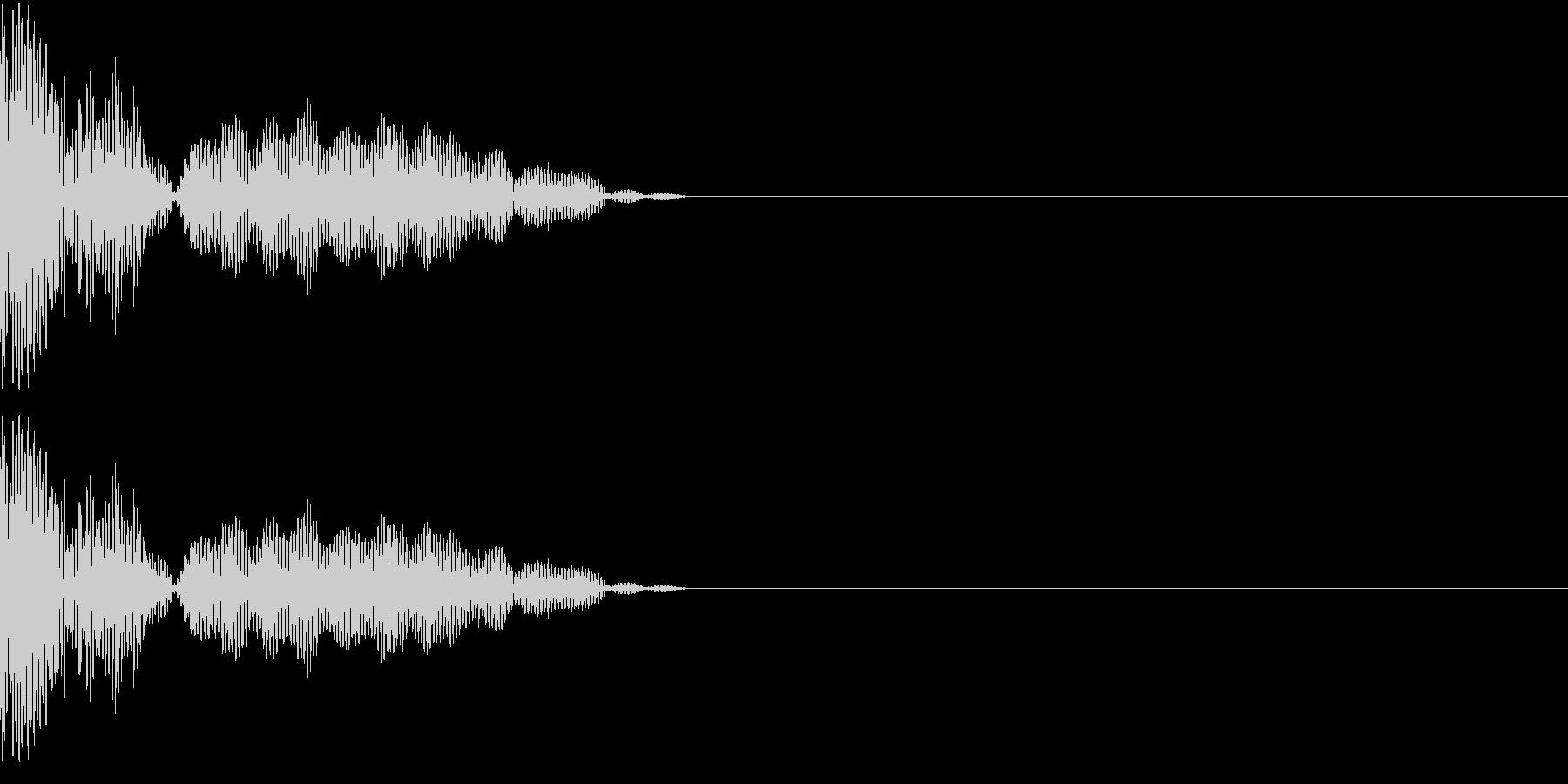 チープな魔法音の未再生の波形