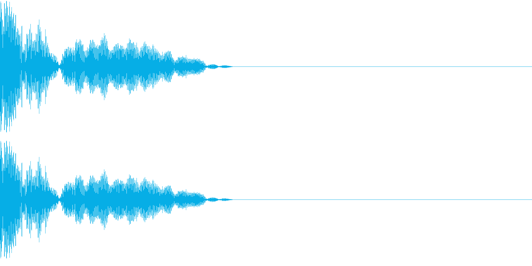 チープな魔法音の再生済みの波形