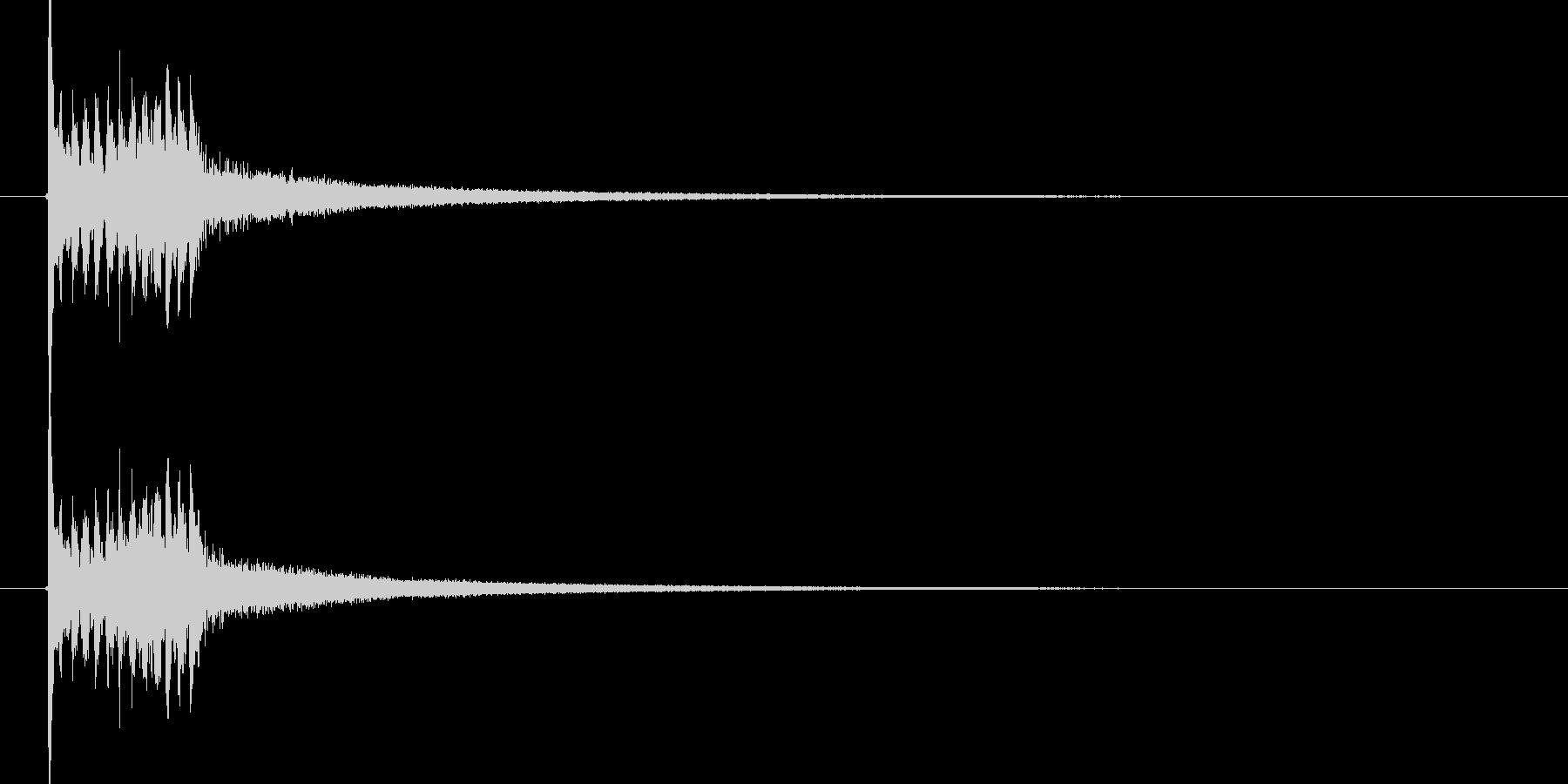 上昇する木琴音のSEの未再生の波形