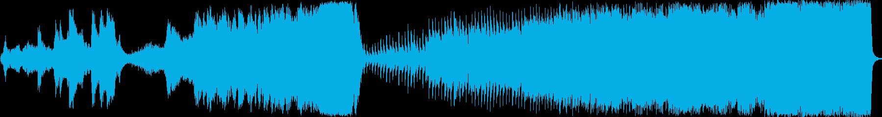 近未来的なSF調のシンセサイザー音楽の再生済みの波形