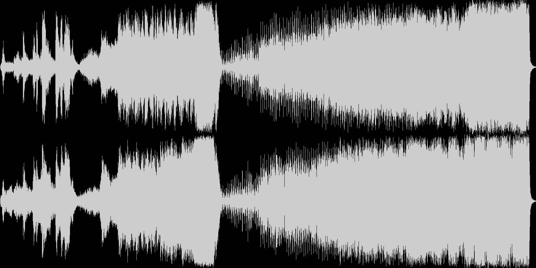 近未来的なSF調のシンセサイザー音楽の未再生の波形