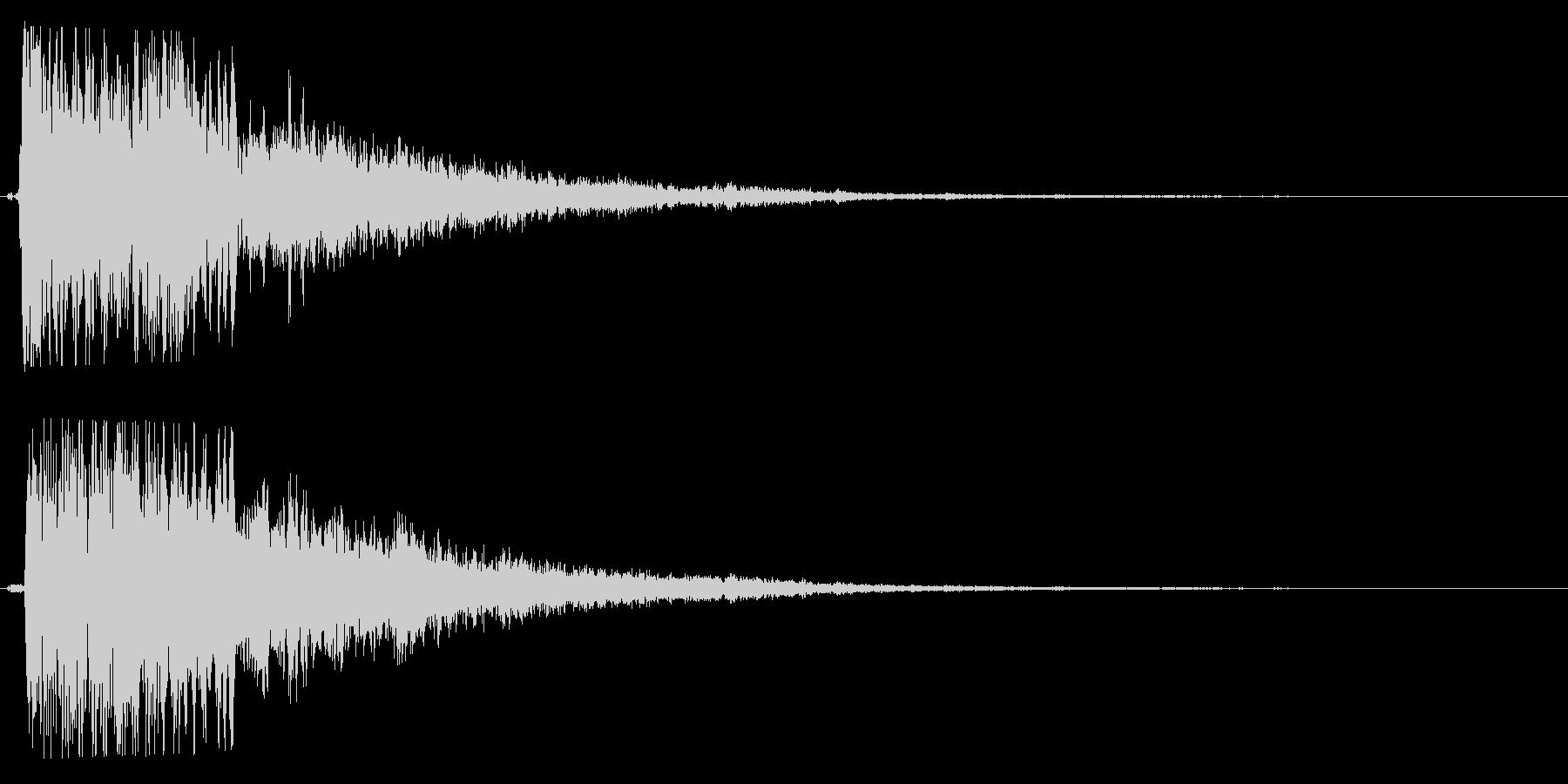 クワイン(注意を引く不気味な効果音)の未再生の波形
