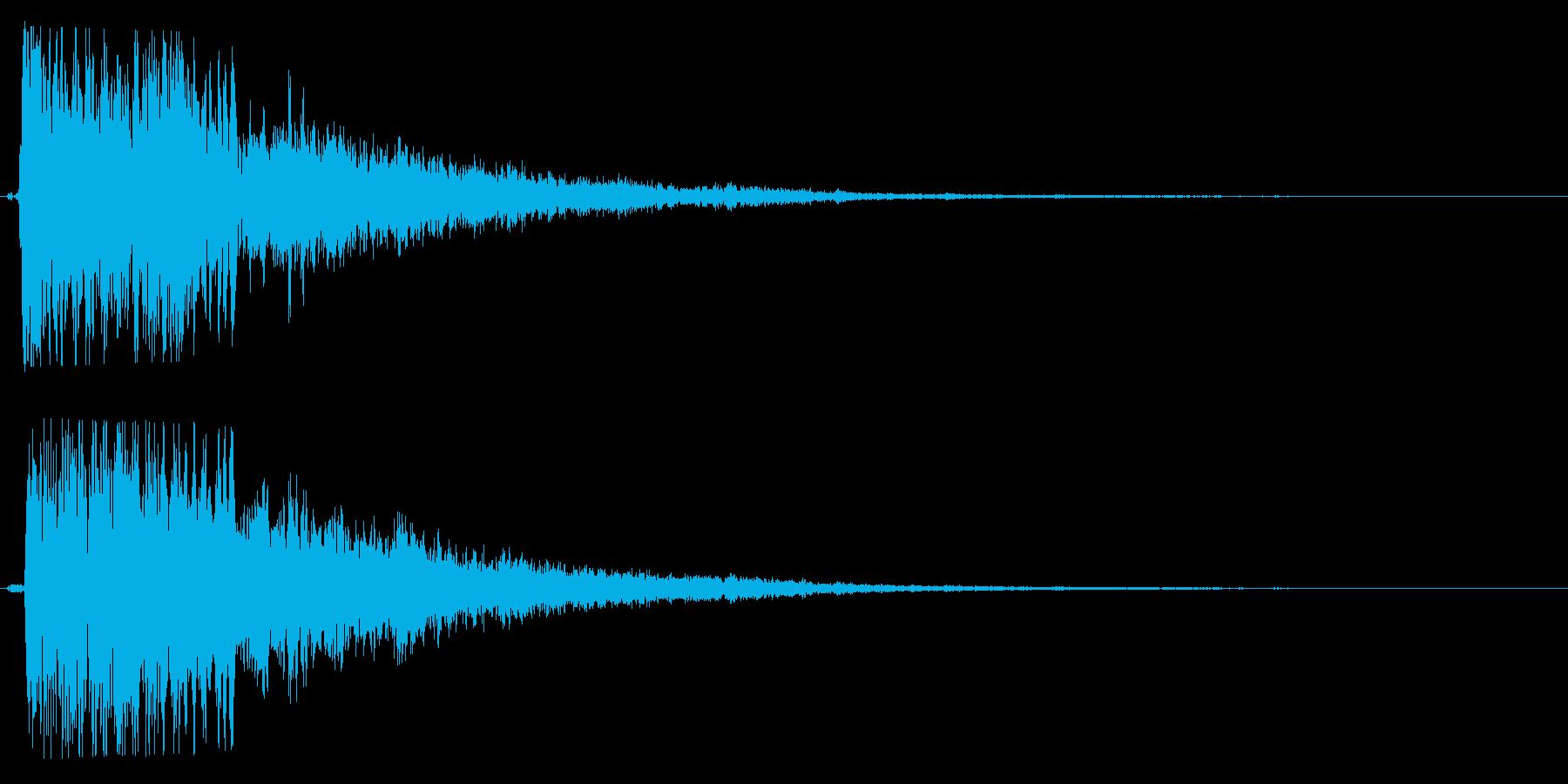 クワイン(注意を引く不気味な効果音)の再生済みの波形