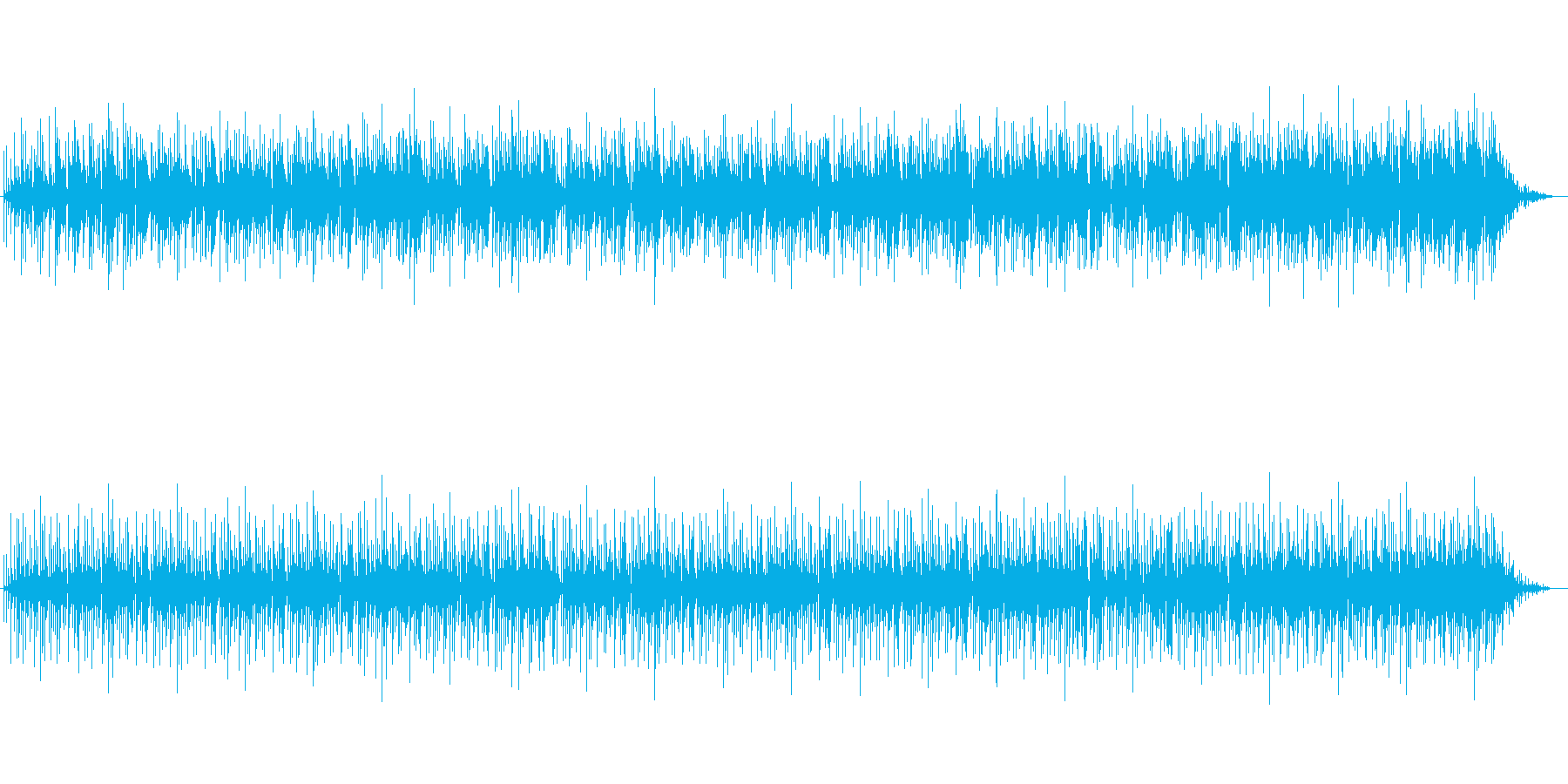 アコースティックなボサノバサウンドの再生済みの波形