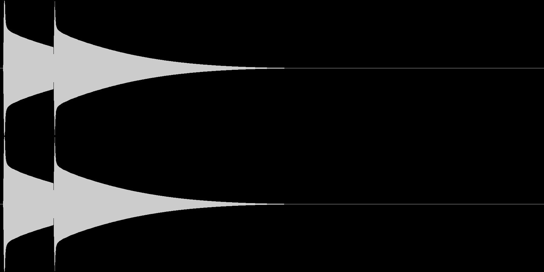 ピンポーン(チャイム、インターフォン)の未再生の波形