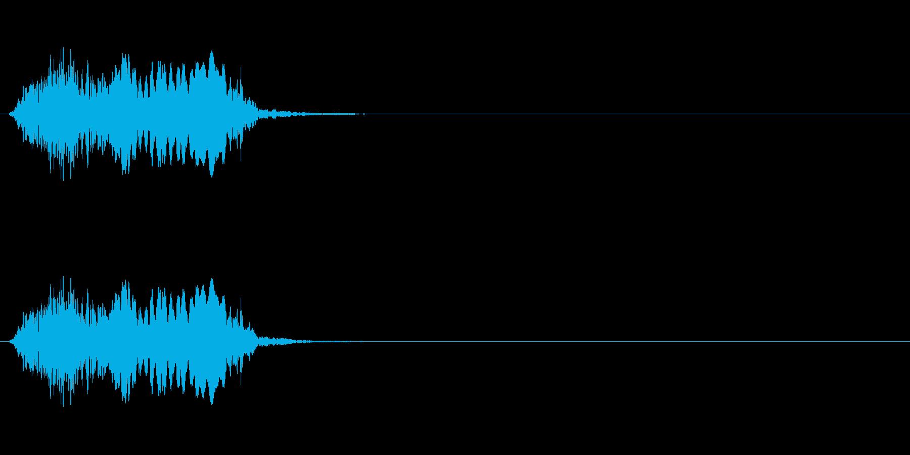 【絶叫 女性01-1】の再生済みの波形