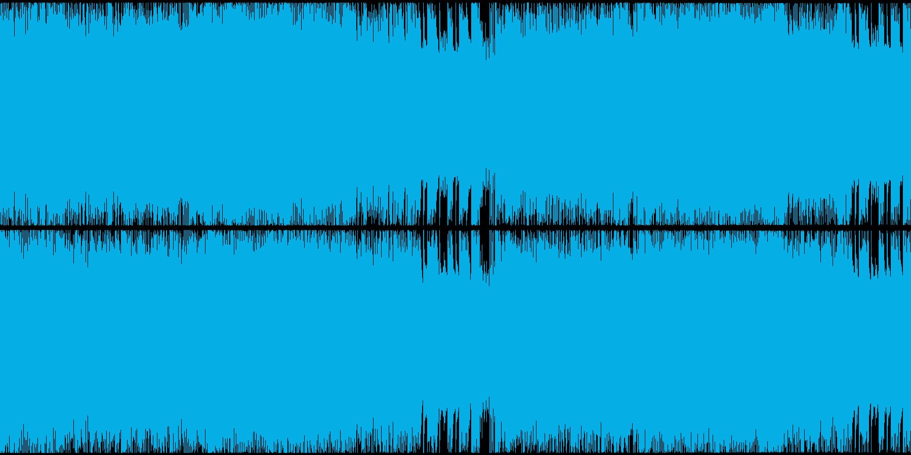 凶悪で攻撃的な雰囲気のへヴィメタルループの再生済みの波形