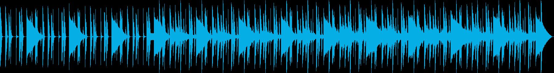 ブルージーな短いジングルの再生済みの波形