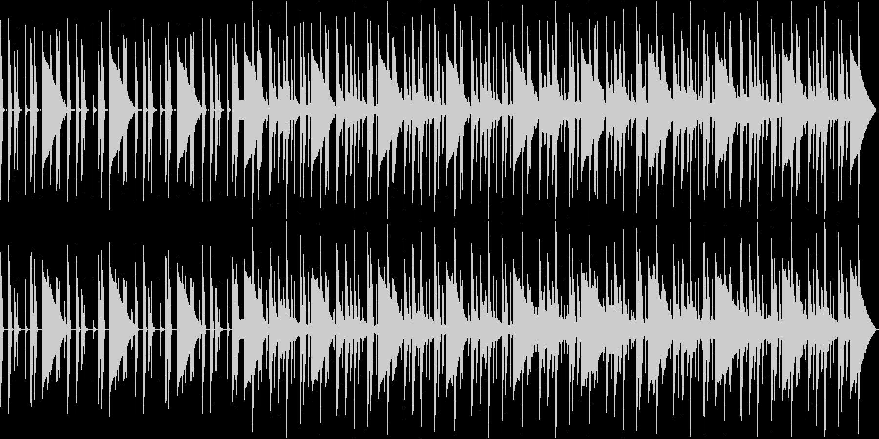 ブルージーな短いジングルの未再生の波形