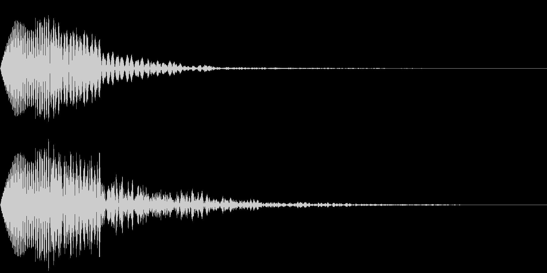 ぶわん 攻撃音の未再生の波形