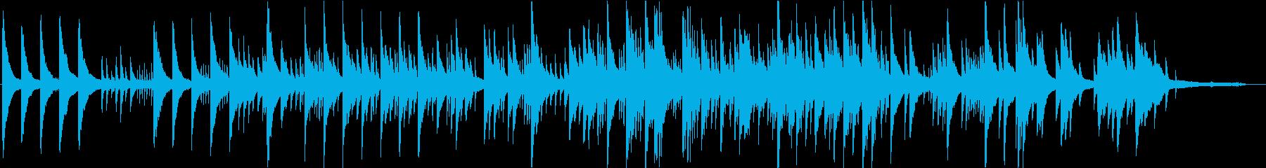 ピアノ音の旋律が重なるオルゴールの様な曲の再生済みの波形
