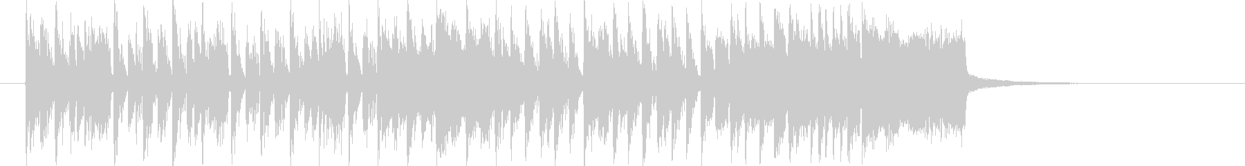 躍動感あるスピーディーなテクノジングルの未再生の波形