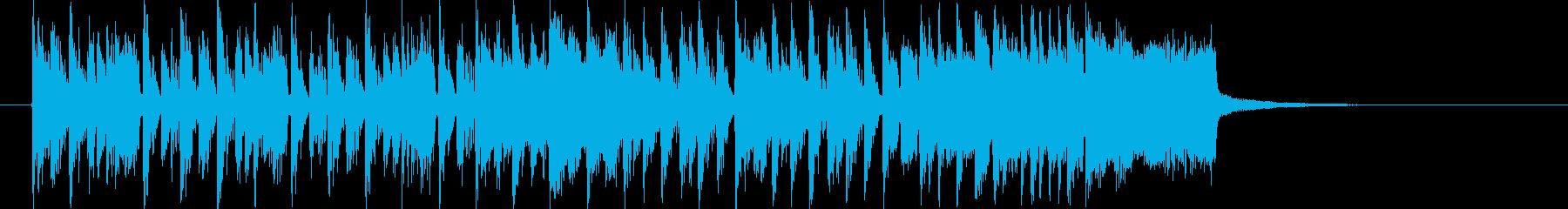 躍動感あるスピーディーなテクノジングルの再生済みの波形