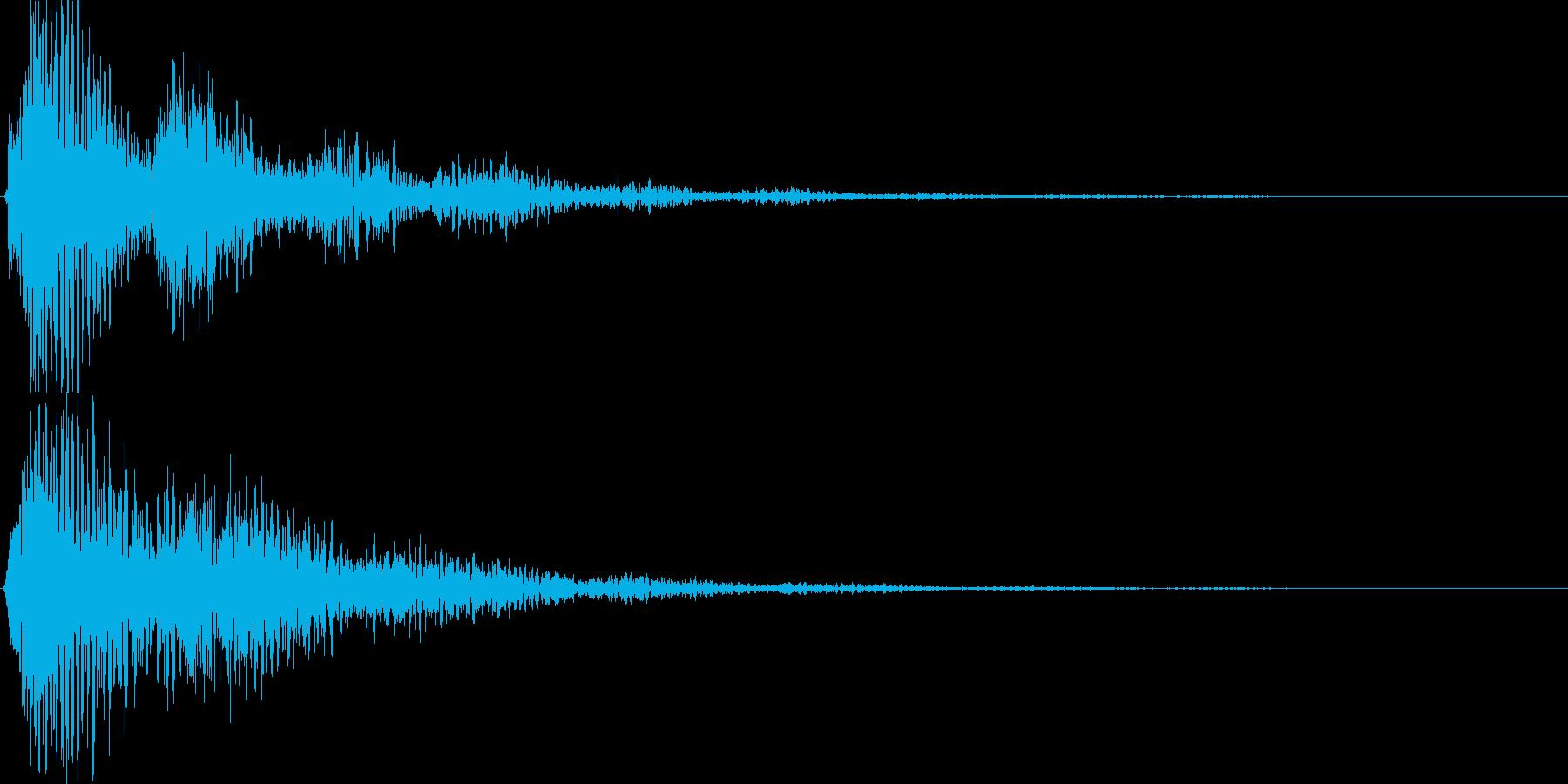 ゲーム、アプリ等の決定音、起動音にの再生済みの波形