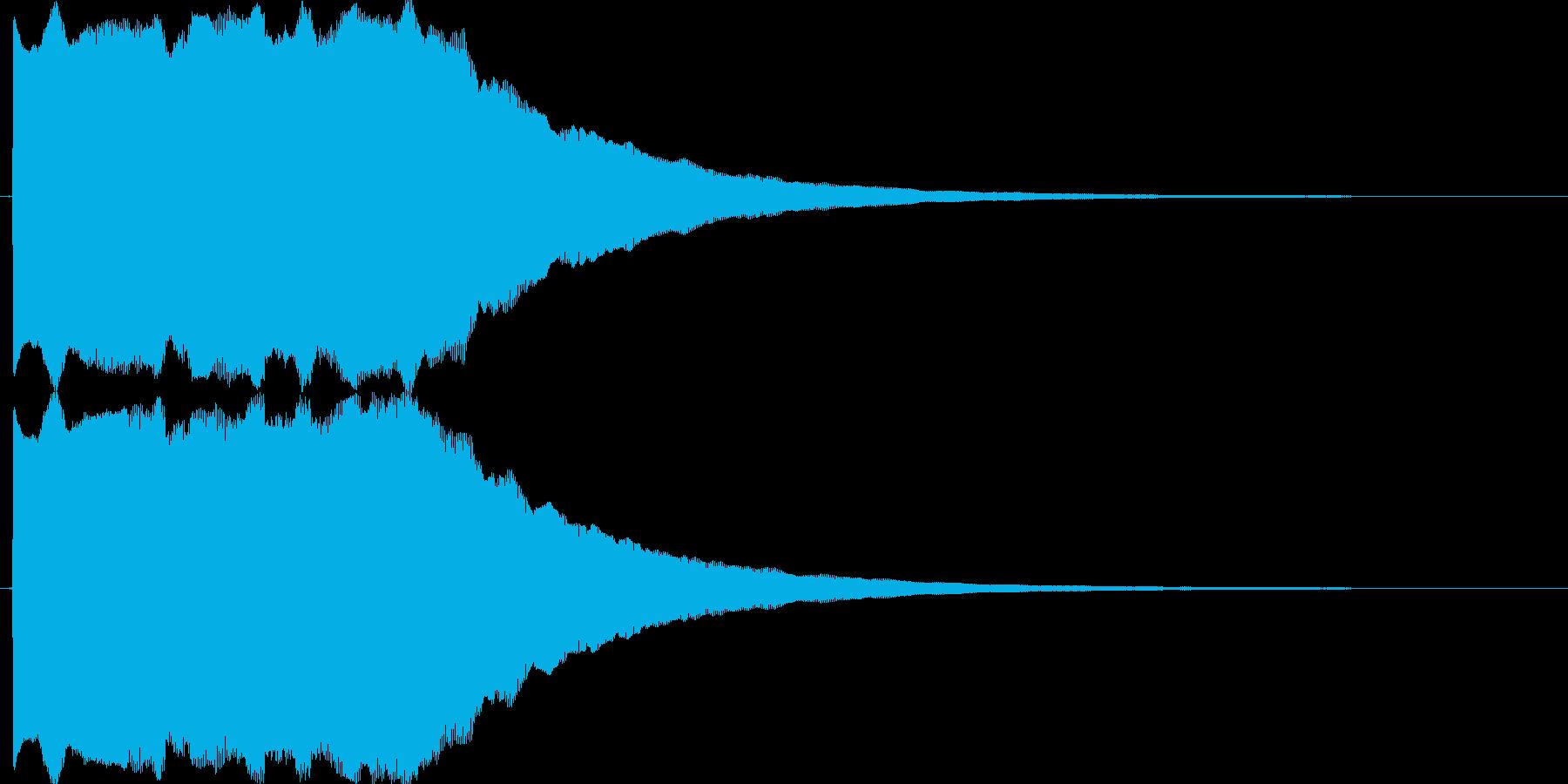 ピンポン(正解音_連続)の再生済みの波形