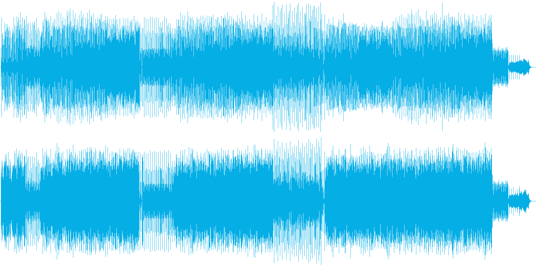 シンセサイザーによるかわいらしいポップスの再生済みの波形