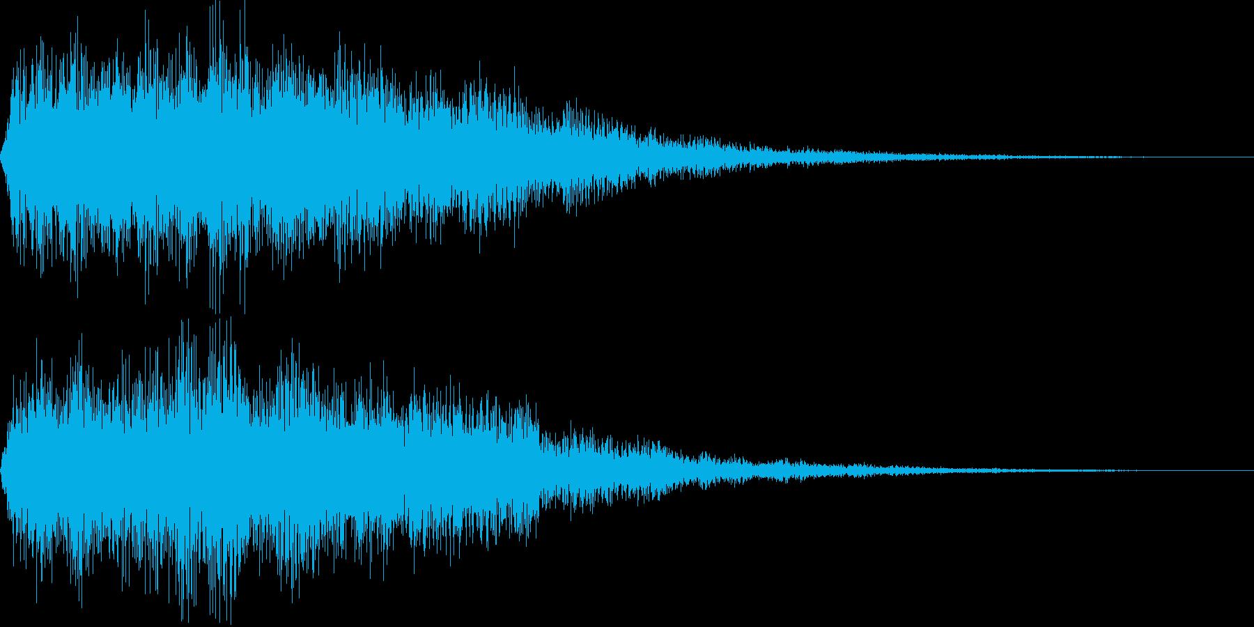 電車のクラクション(プアーンと鳴らす)の再生済みの波形