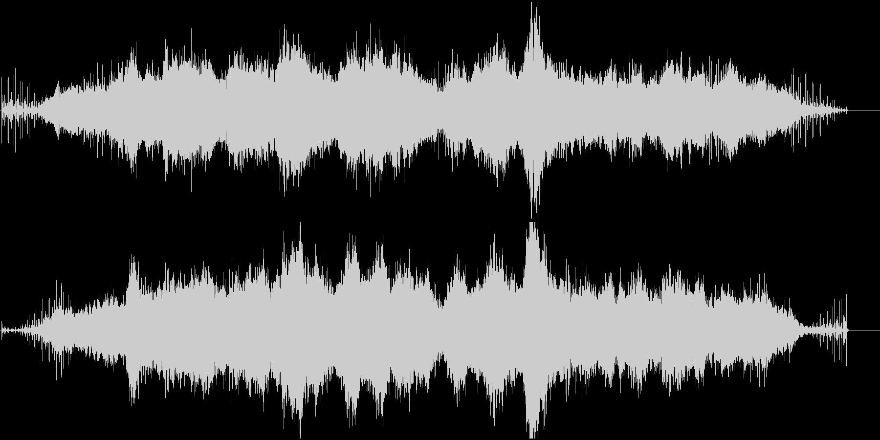 リズムボックスとシンセのアンビエントの未再生の波形