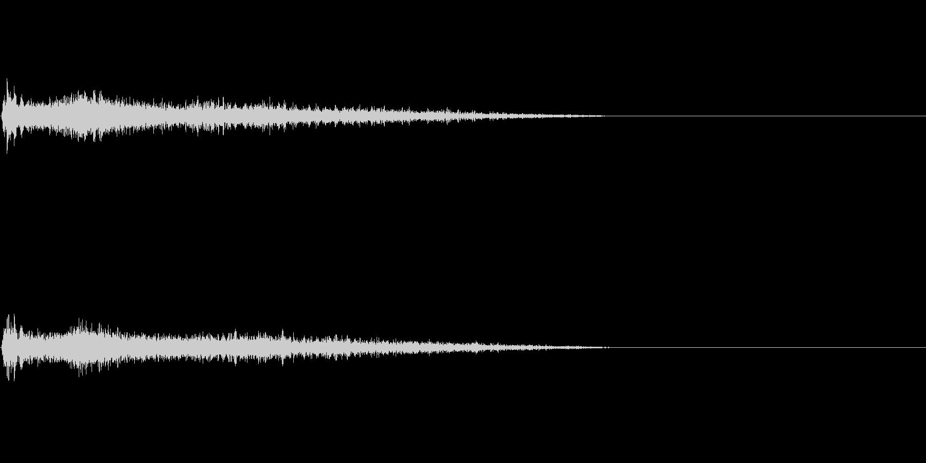 Fメジャー インパクト音 衝撃音の未再生の波形