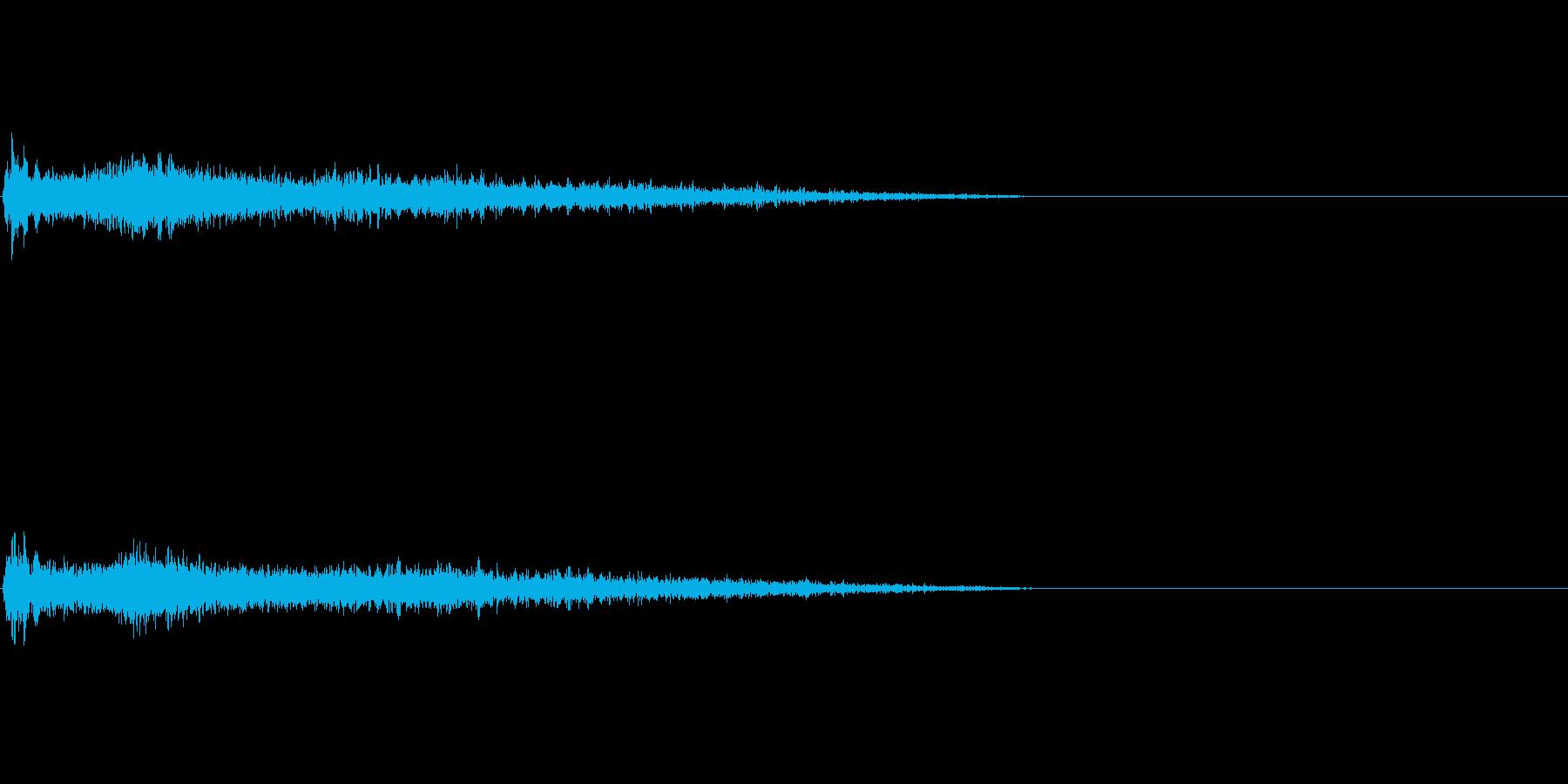 Fメジャー インパクト音 衝撃音の再生済みの波形