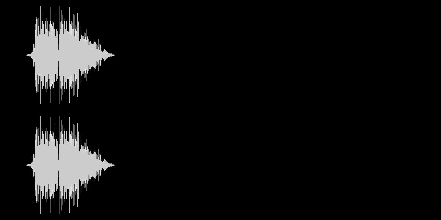 打撃07-4の未再生の波形