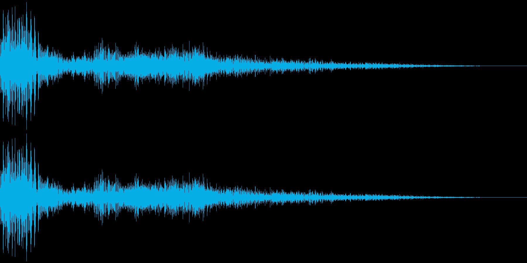 ズさっ(スライディングや踏ん張る足音)の再生済みの波形